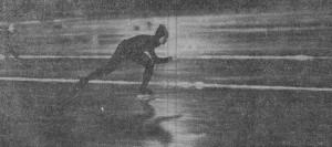 На снимке: вот так летела к победе Нина СТАТКЕВИЧ.  Фото нашего специального корреспондента   И. ГРИЧЕРА.