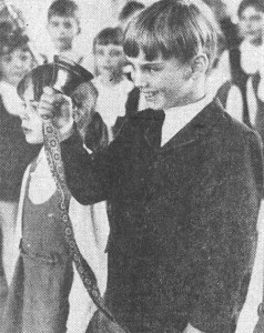 Сашко Фокин в первом классе. Архивное фото.