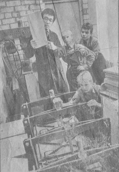 В кабинете труда — ученики Азериской школы.