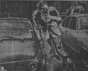 Так, по мнению полиции, выглядело убийство Калабрези. Фото из газеты «Паэзе сера».