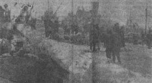 Пирс о. Лавенсаари в момент выхода кораблей под Нарву 13 февраля 1944 г. Фото Л. Коровина